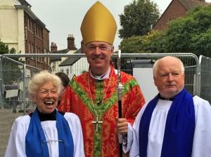 With Bishop Robert