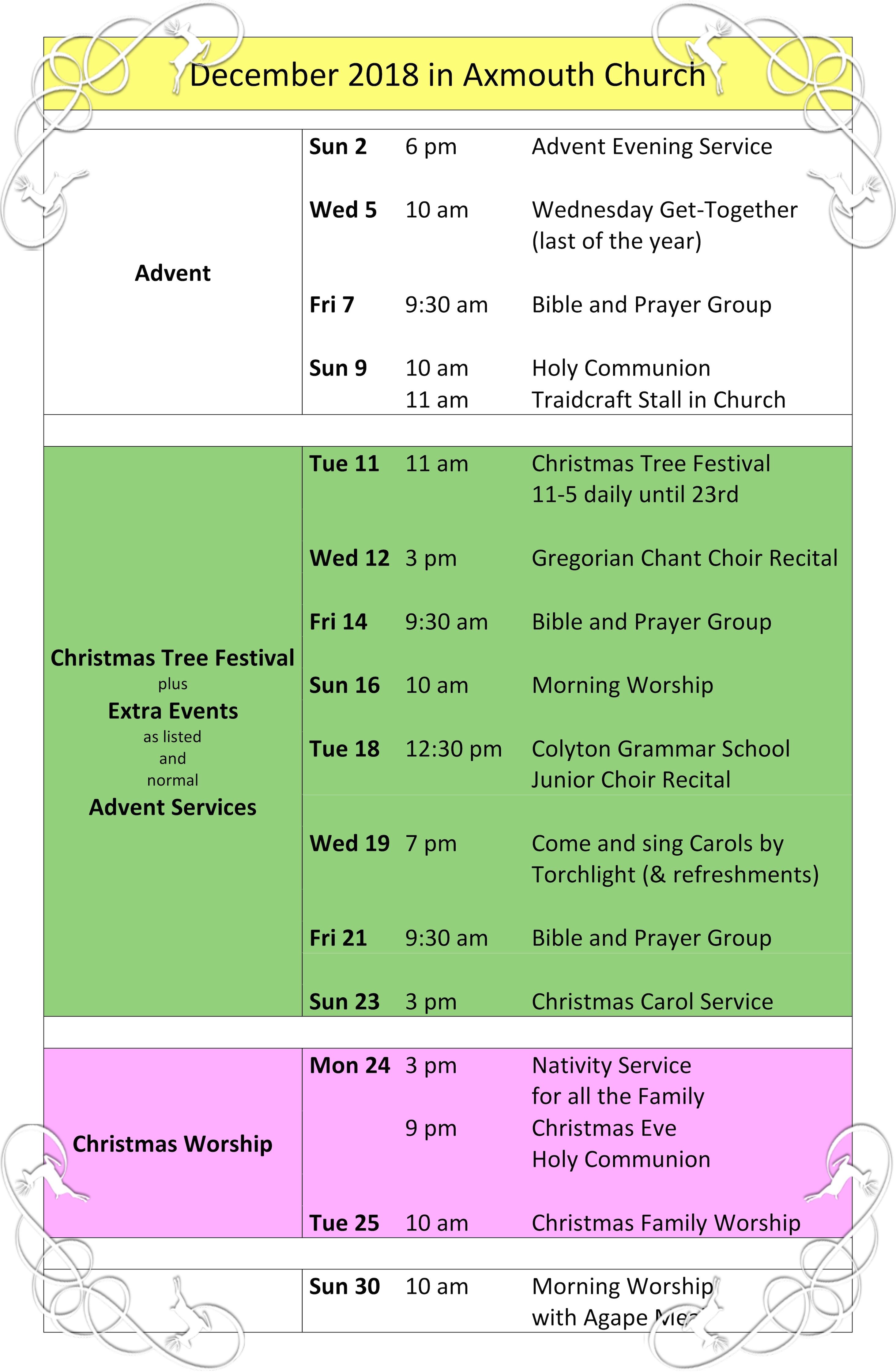 What's On in December?